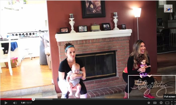 Fun Post Natal Workout with Baby YouTube