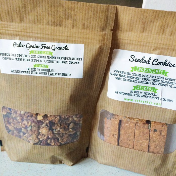 Eat evolve granola and cookies
