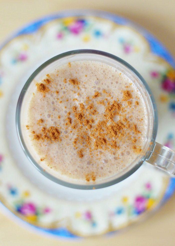 Frozen chai latte smoothie 4