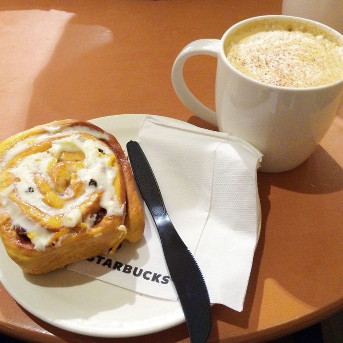 Gingerbread latte and cinnamon swirl