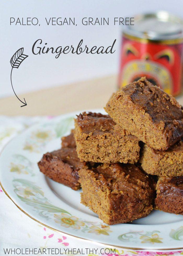 Grain free vegan paleo gingerbread title