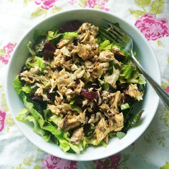 Mackerel and beet salad