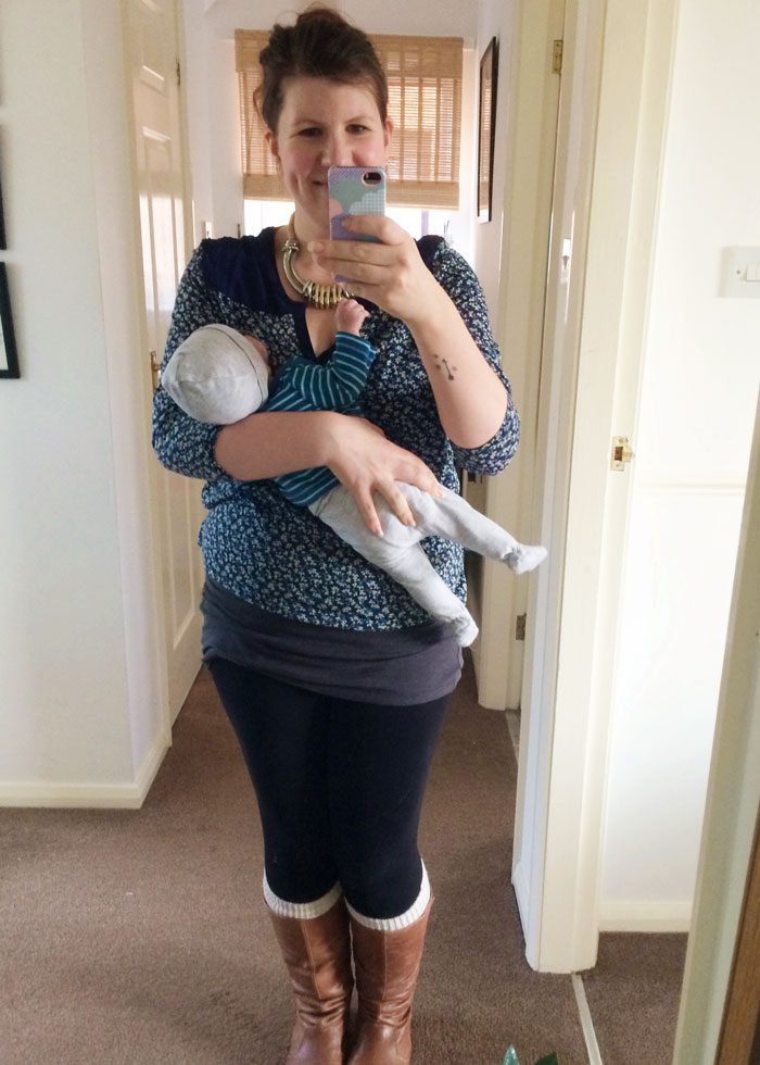 Mama and baby autumn outfit