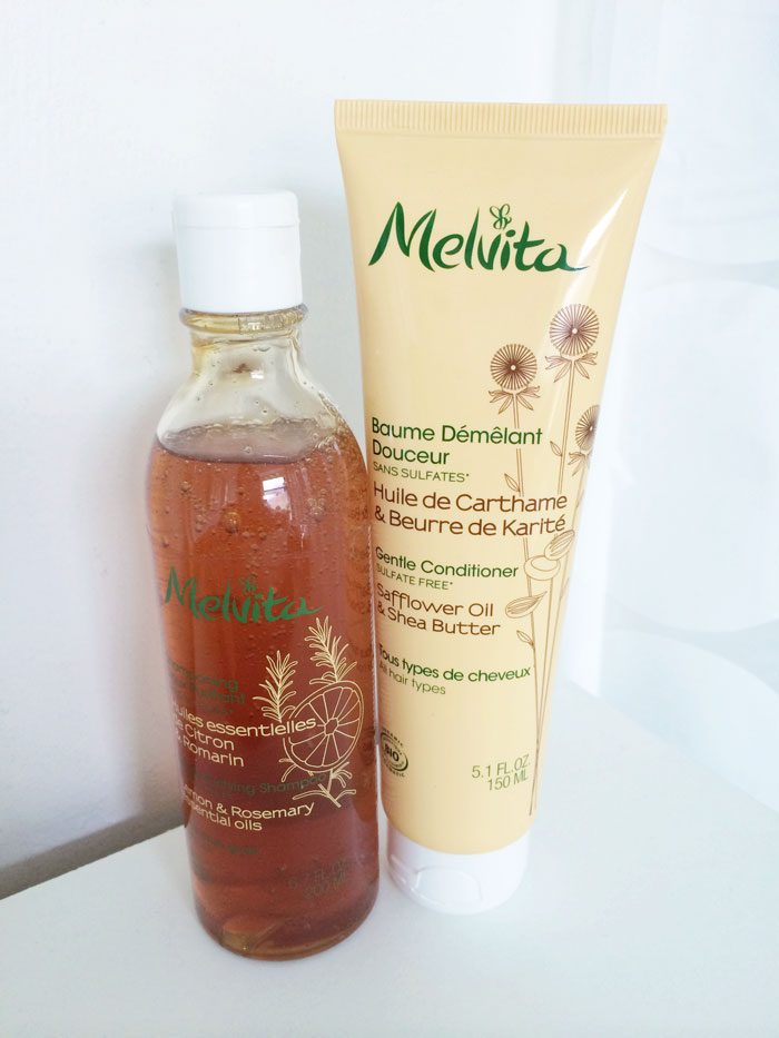 Melvita shampoo and conditioner