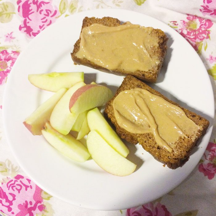 Pumpkin plantain bread with apple