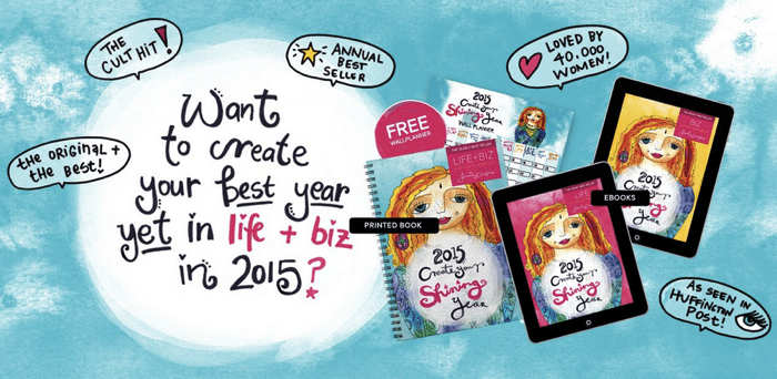 2015 Create Your Shining Year In Life and Business Workbook Planner Calendar Leonie Dawson Shining Life Biz