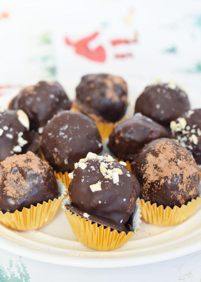 Cashew coconut truffles 8