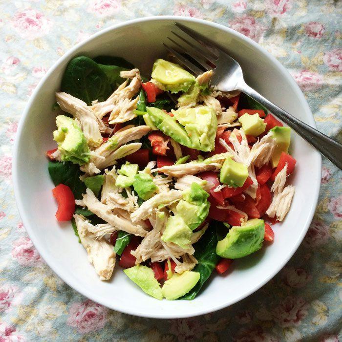 Chicken and avo salad