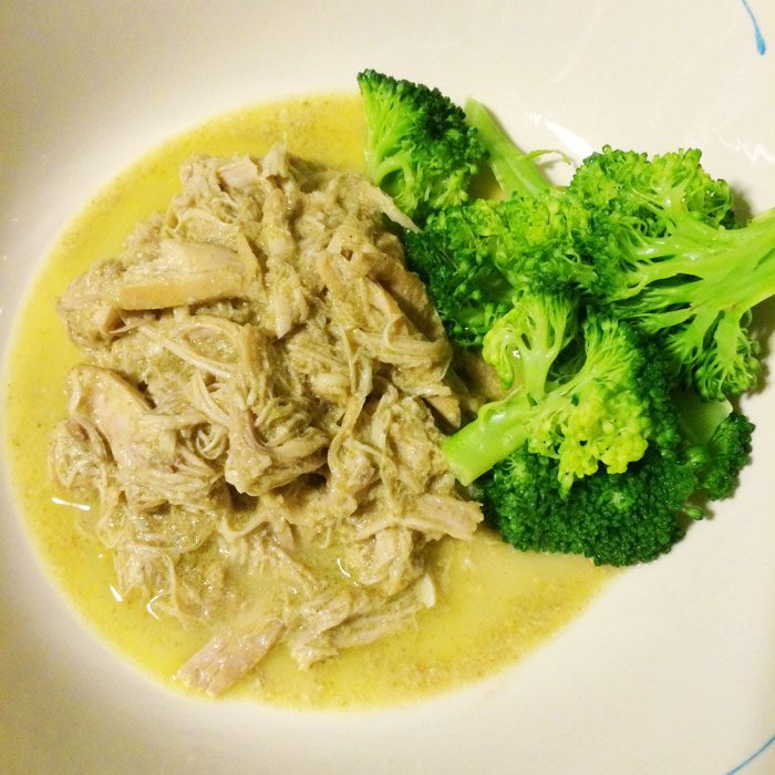 Slow cooker thai green chicken curry