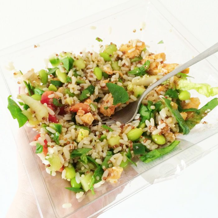 M S chicken and rice salad