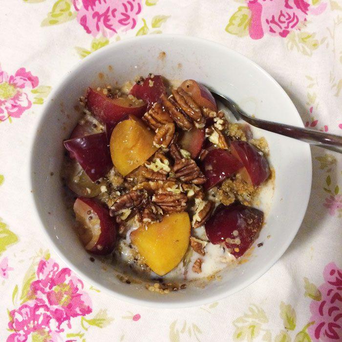 Quinoa plum and pecans