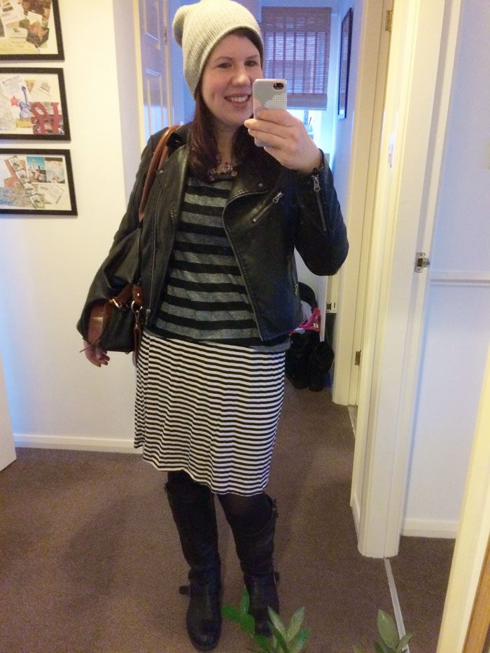 Stripy top and dress combo