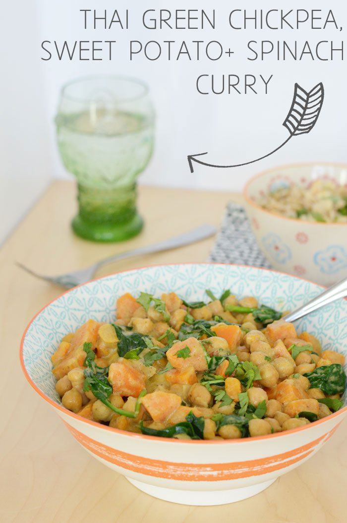 Family Friendly Recipe Challenge: Thai Green Chickpea, Sweet Potato and Spinach Curry