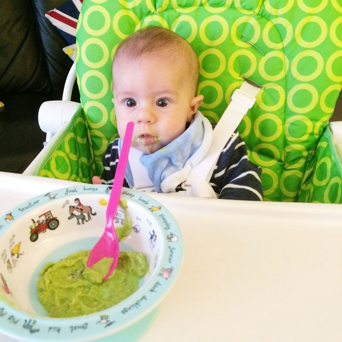 Baby weaning avocado