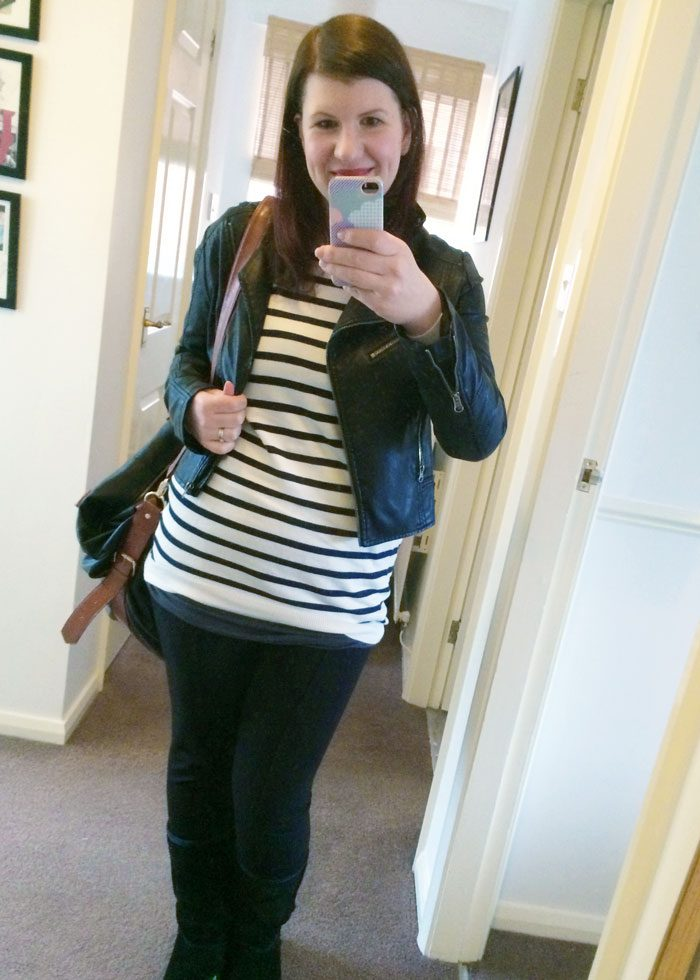 Primark stripy jumper look