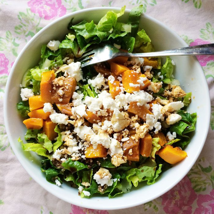 Squash and feta salad
