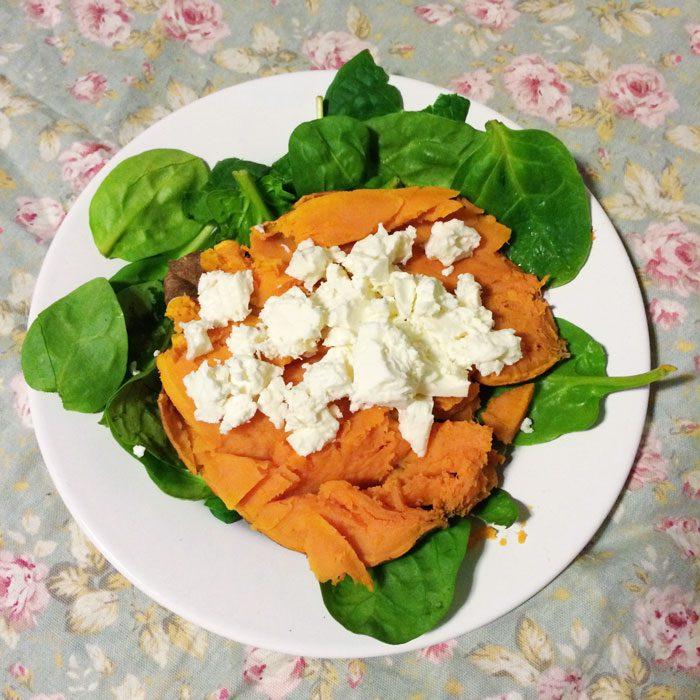 Sweet potato with feta