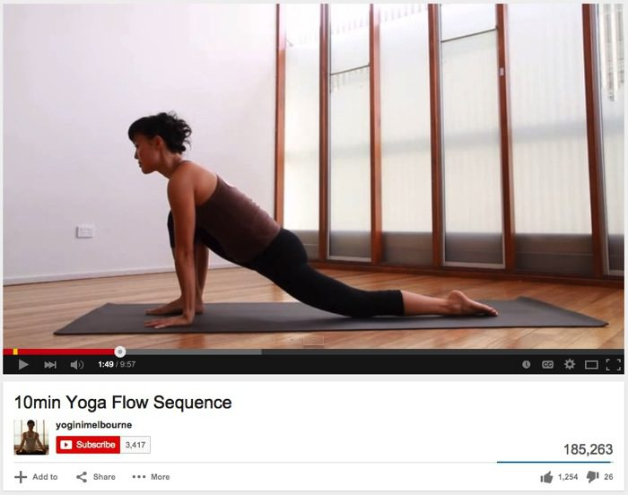 10min Yoga Flow Sequence YouTube
