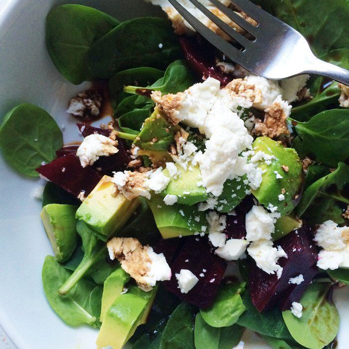 Feta avocado beet salad