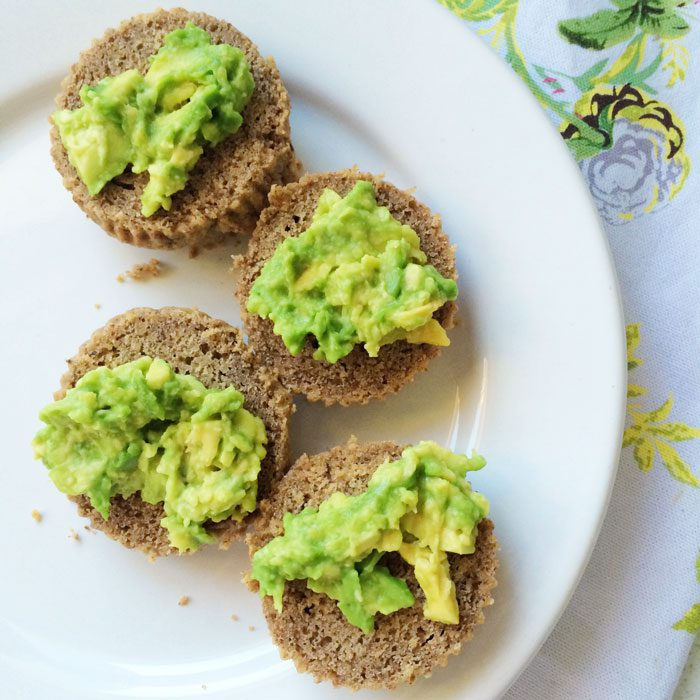 Plantain muffins with avocado