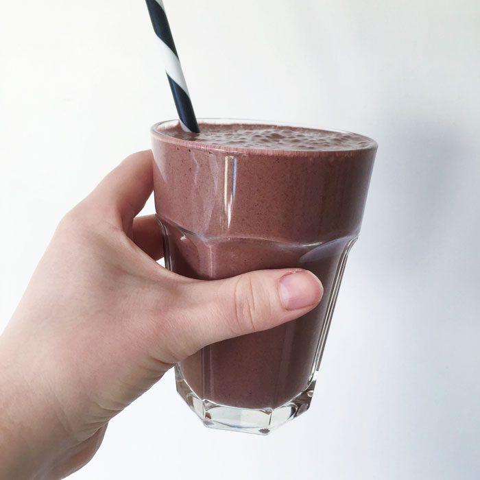 Choc cherry smoothie