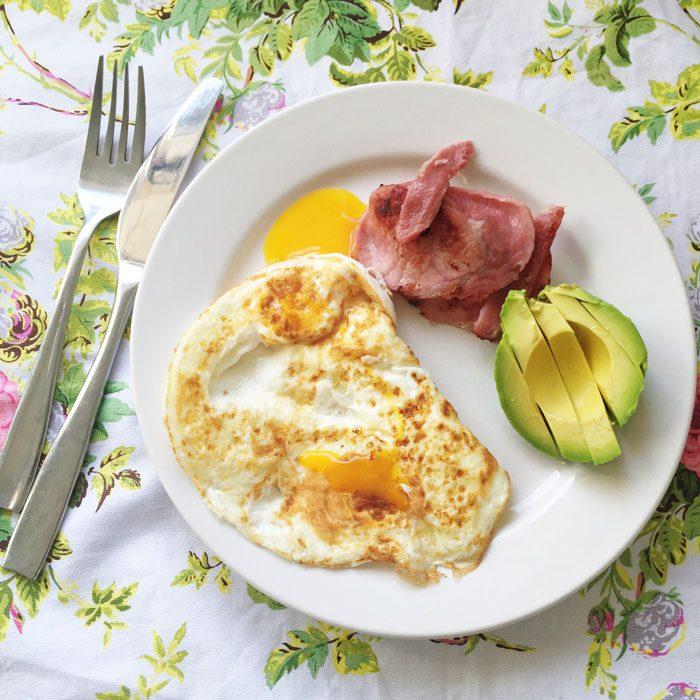 Eggs bacon avocado