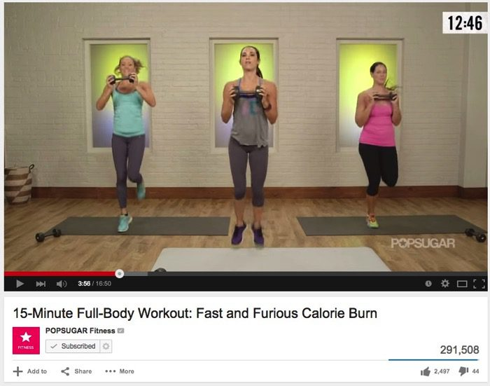 15 Minute Full Body Workout Fast and Furious Calorie Burn YouTube