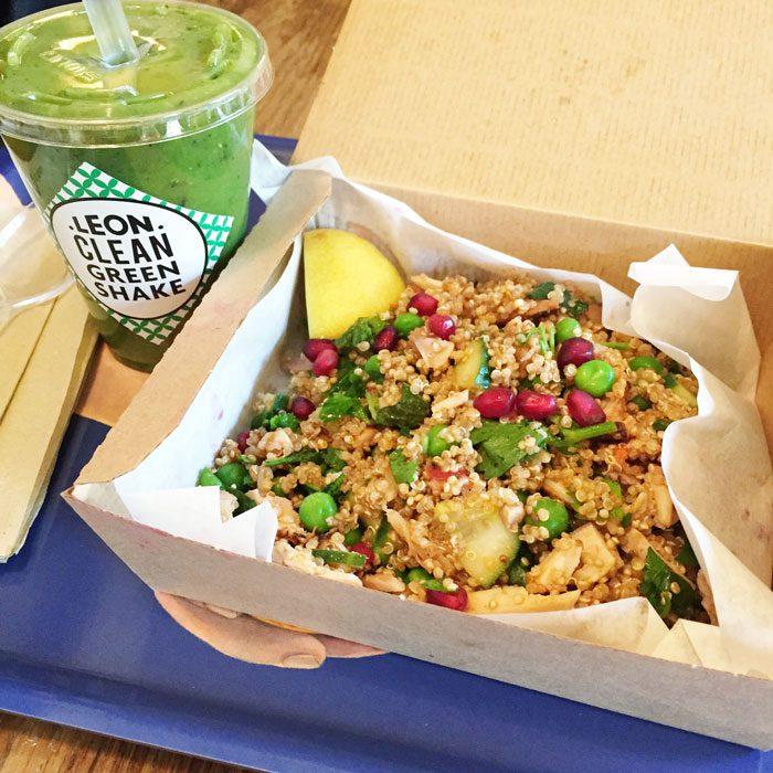 Leon chicken and quinoa salad