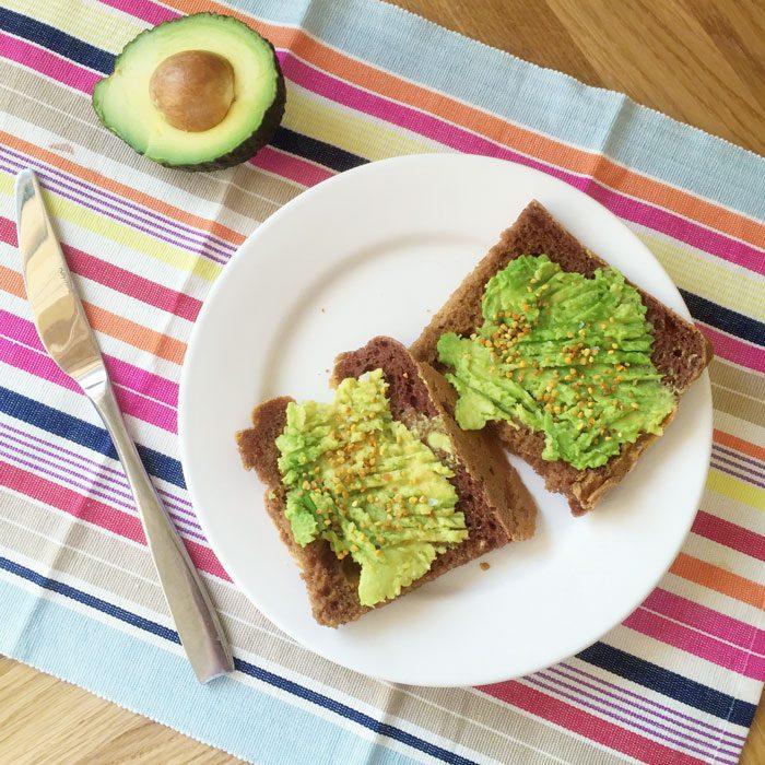 Avocado on plantain bread