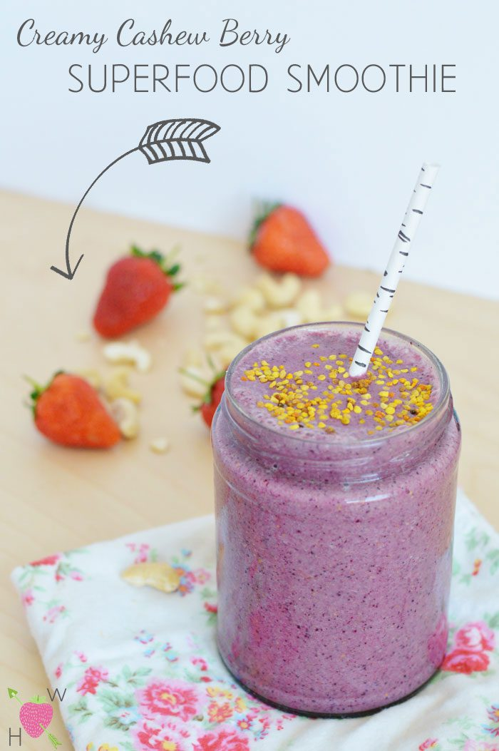 Recipe: Creamy Cashew Berry Superfood Smoothie