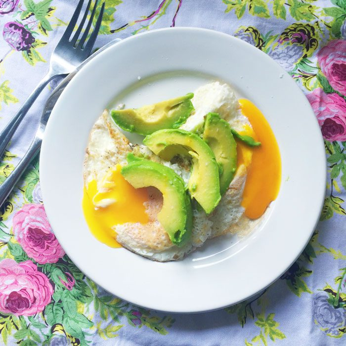 Eggs and avcoado