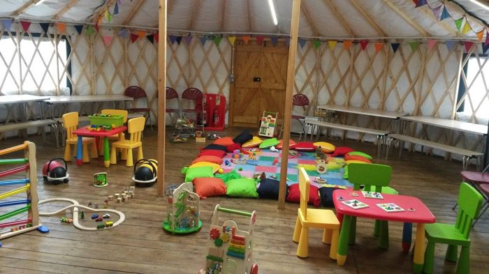 Stay and play at yurt