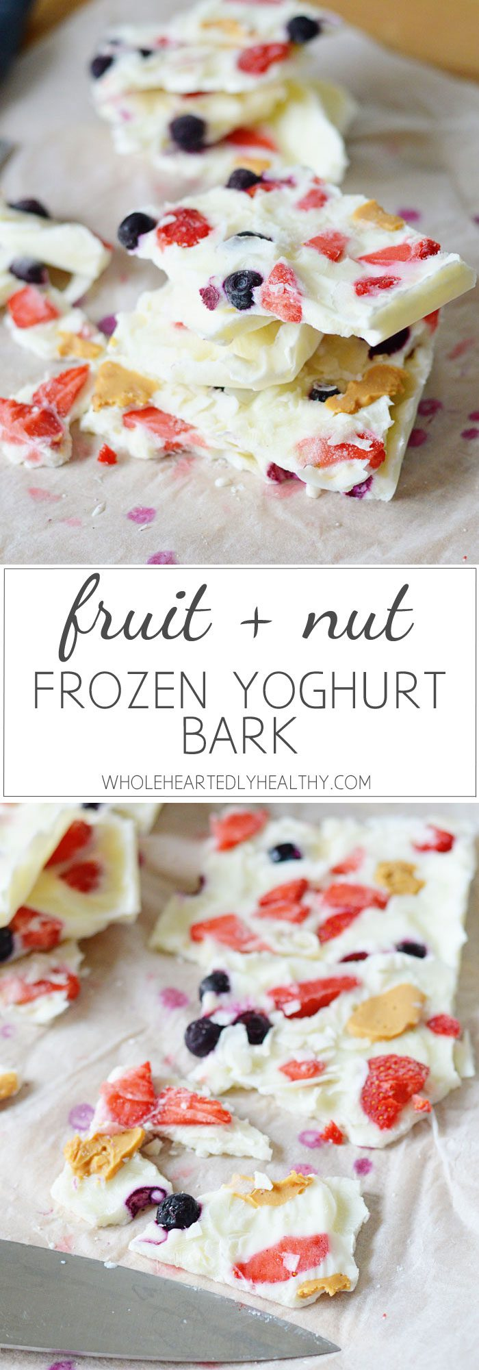 Frozen yoghurt bark