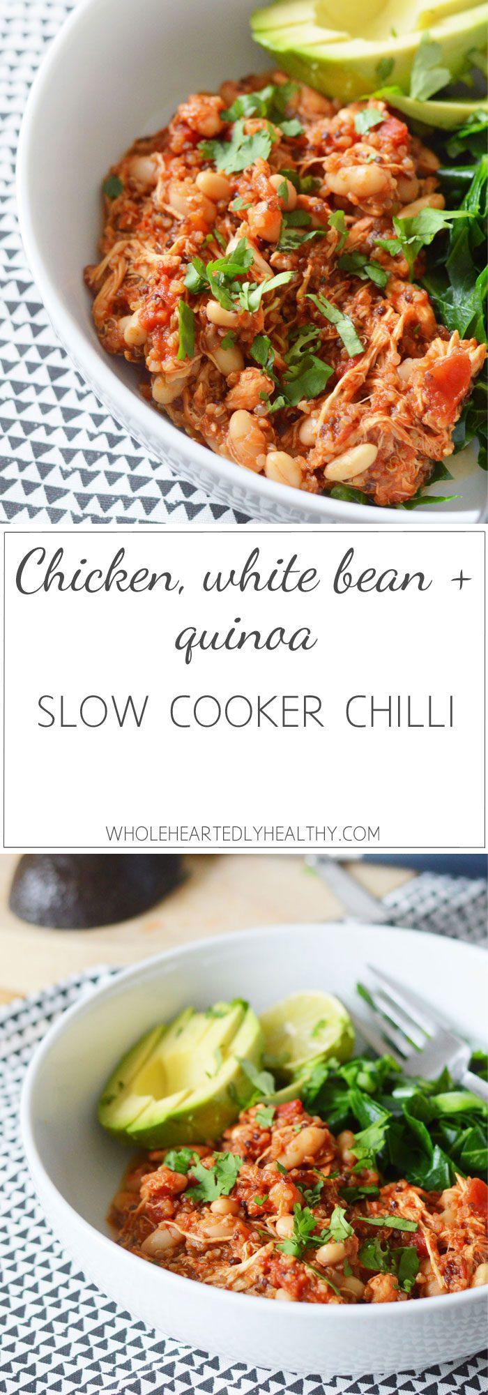 super-easy-healthy-chicken-quinoa-white-bean-slow-cooker-chilli