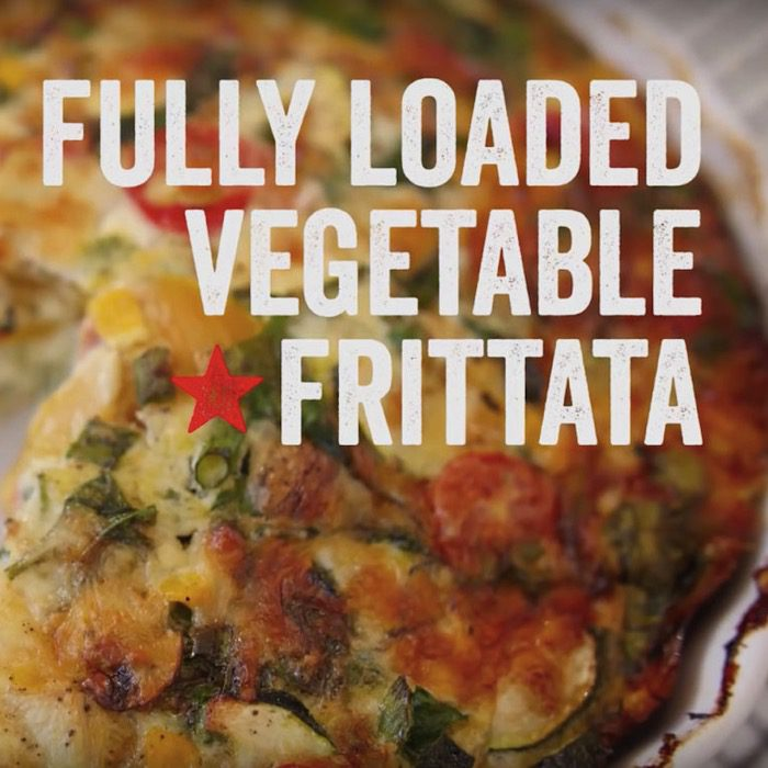 Fully Loaded Vegetable Frittata Recipe with Lion Eggs