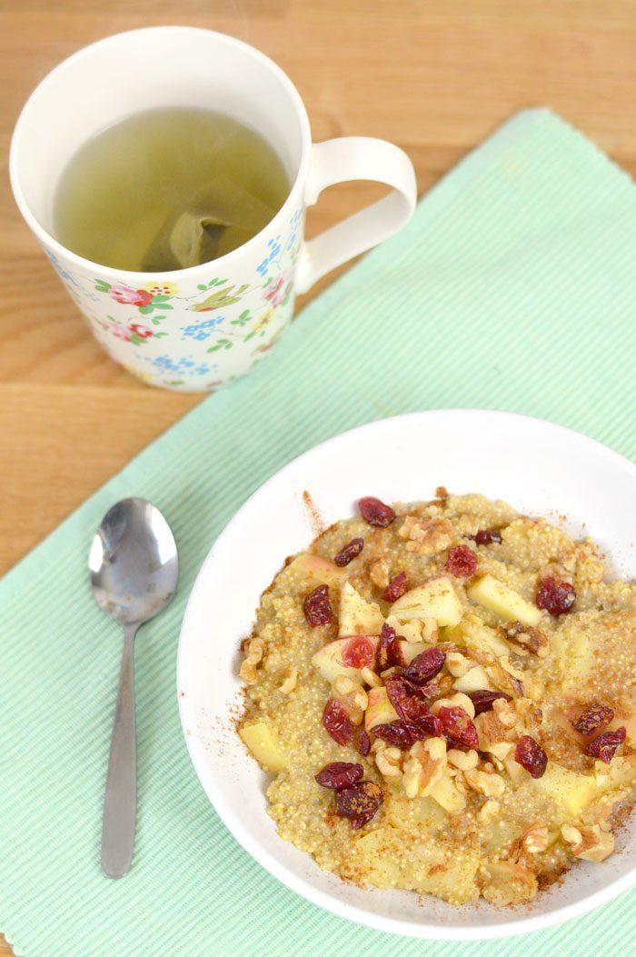 Apple walnut and cranberry quinoa porridge 2