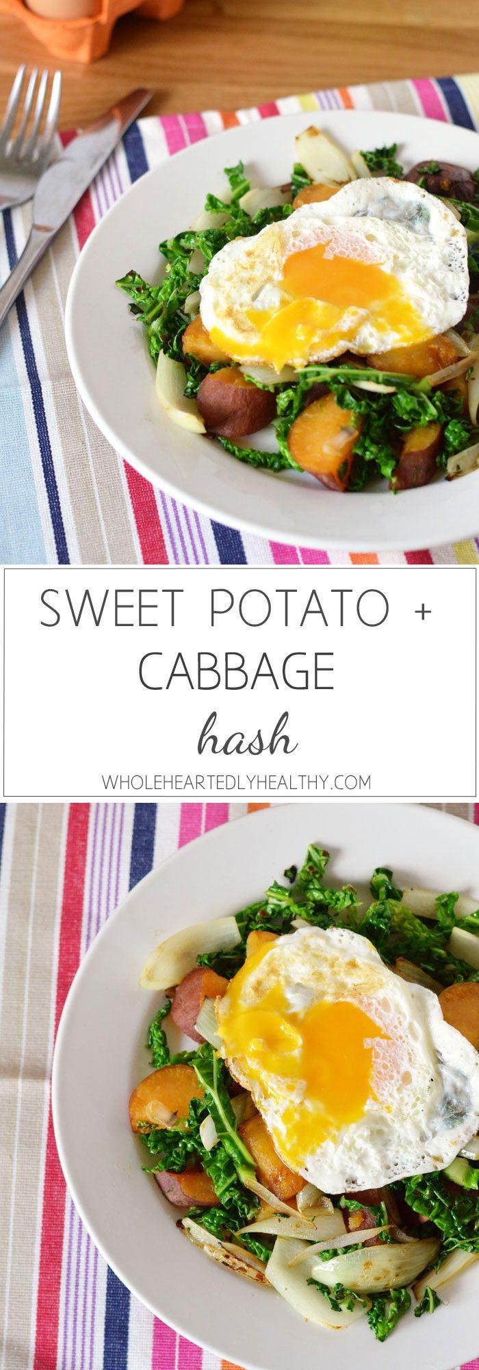 Sweet potato and cabbage hash recipe