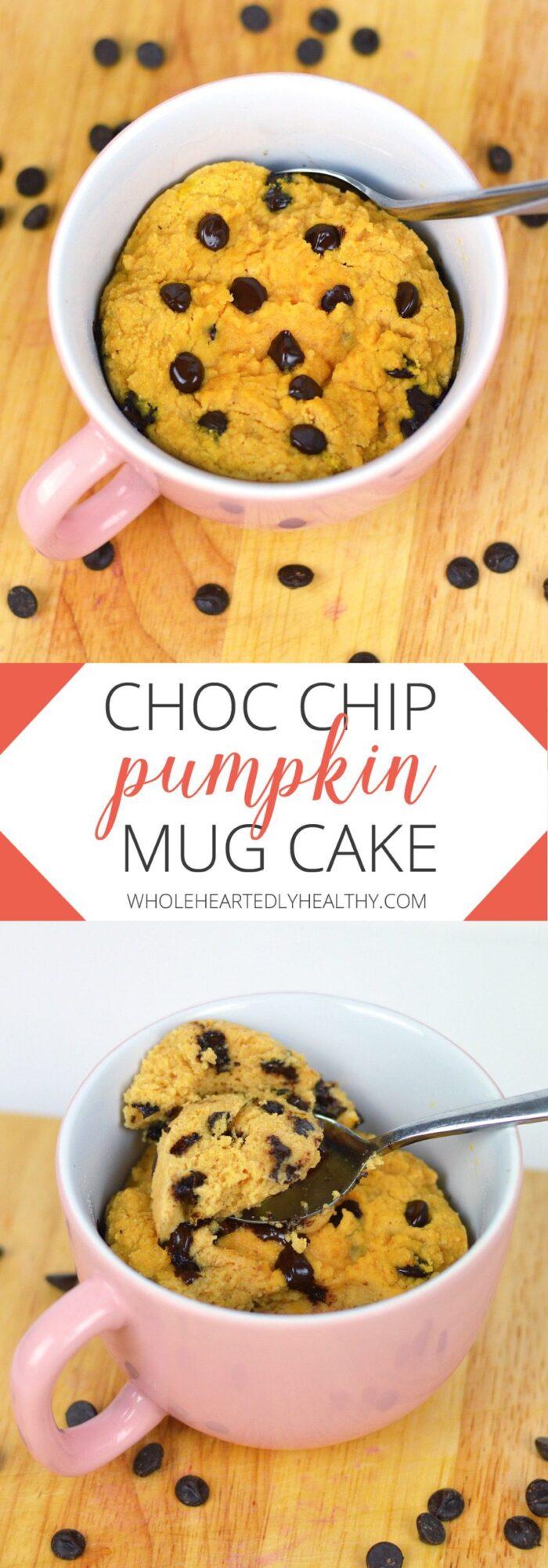 Choc chip pumpkin mug cake recipe