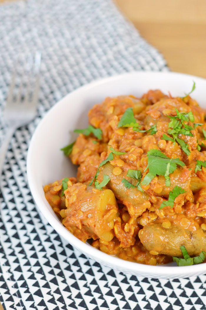 Lentil and potato curry recipe 4