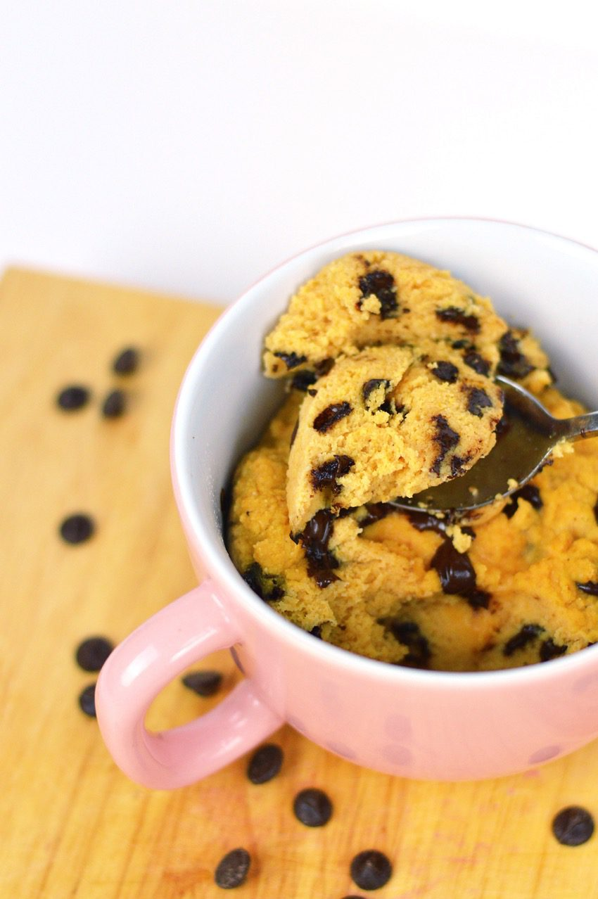 Pumpkin choc chip mug cake recipe 1