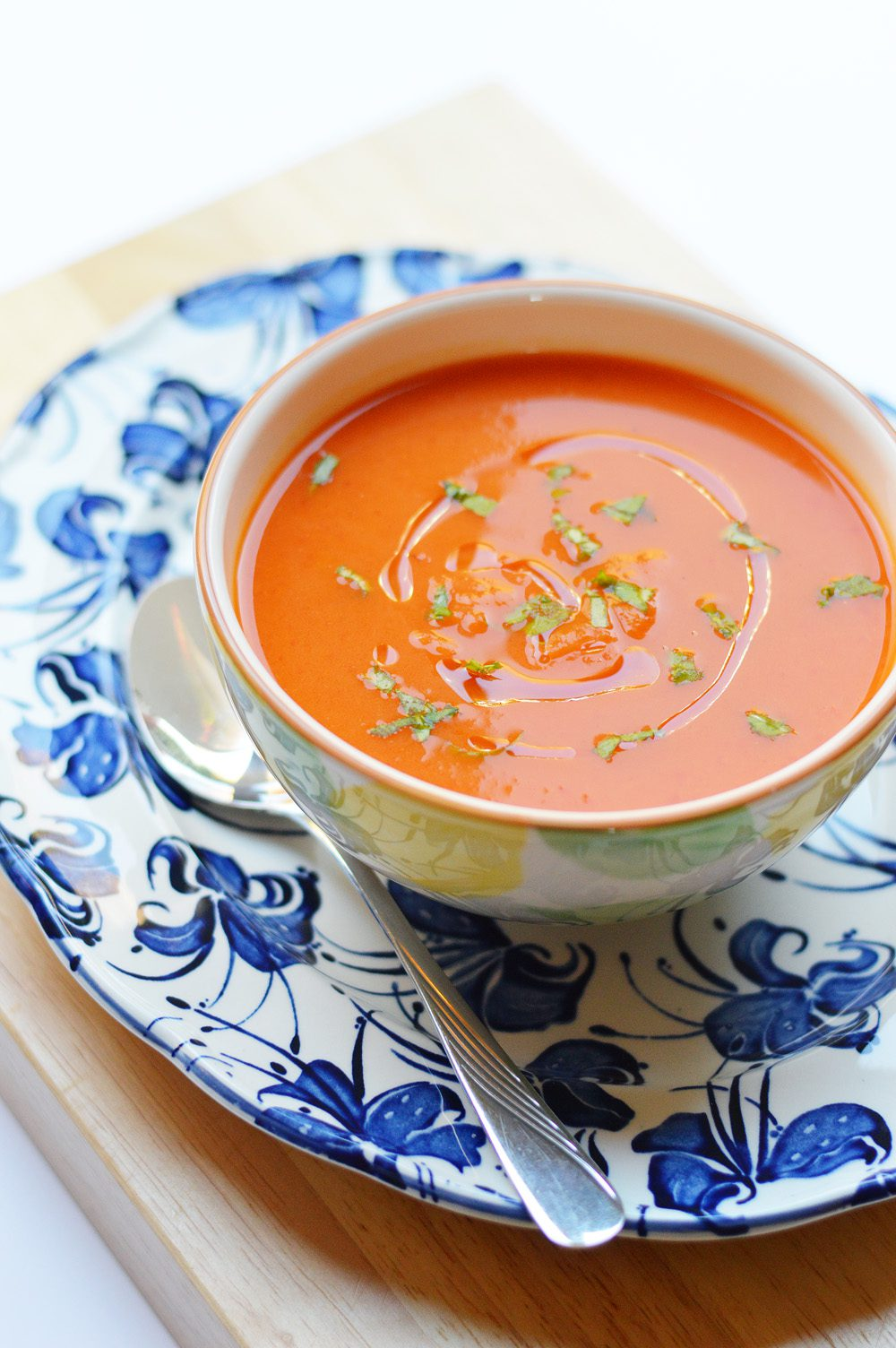 Butternut roasted red pepper and chilli soup 1