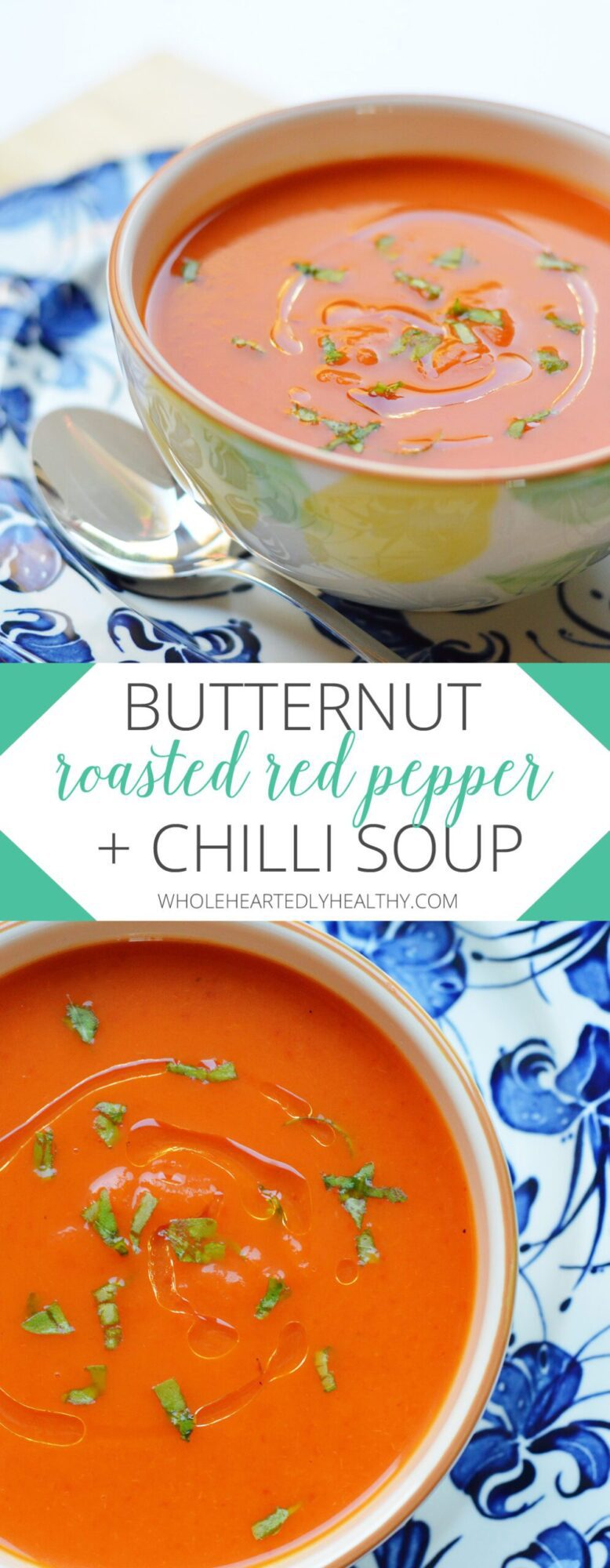 Butternut roasted red pepper and chilli soup