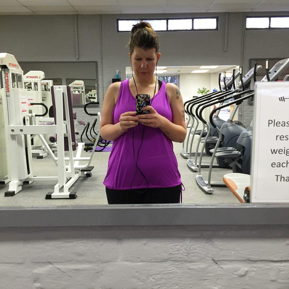 Laura at gym