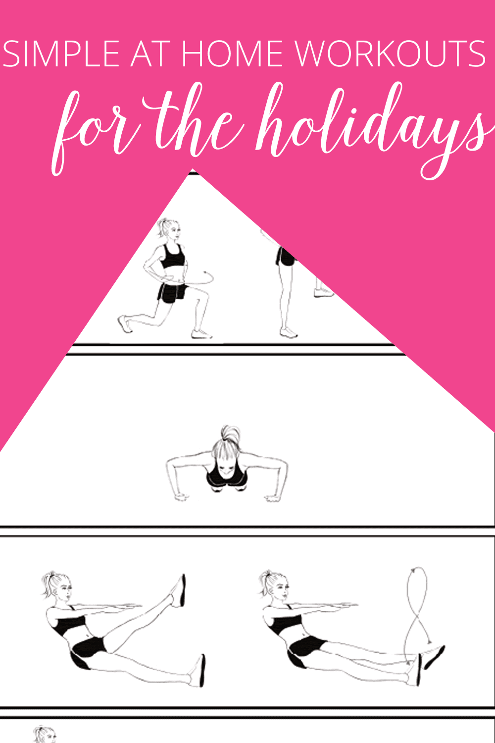 simple at home workouts for the holidays