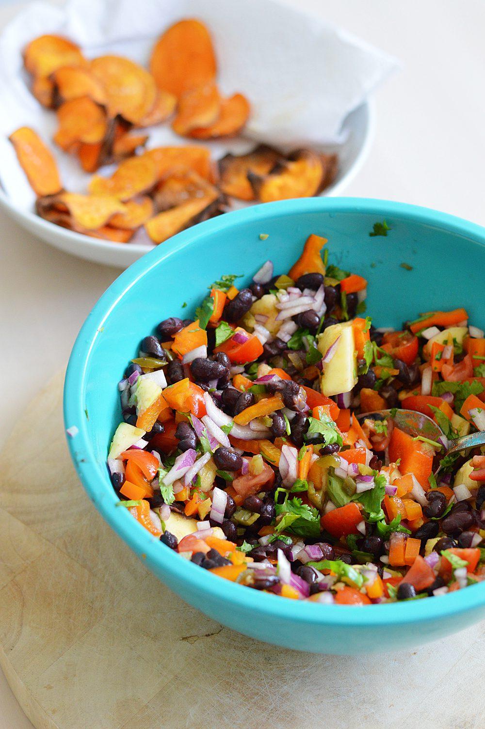 Black bean and mango salsa 2