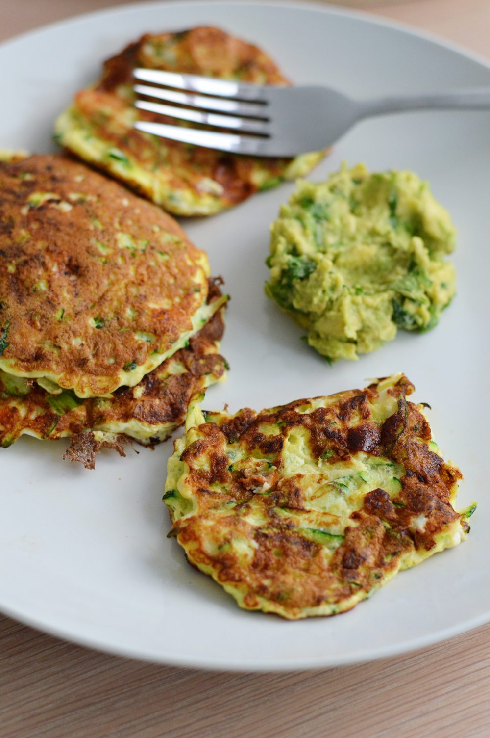 Courgette and feta fritters 2
