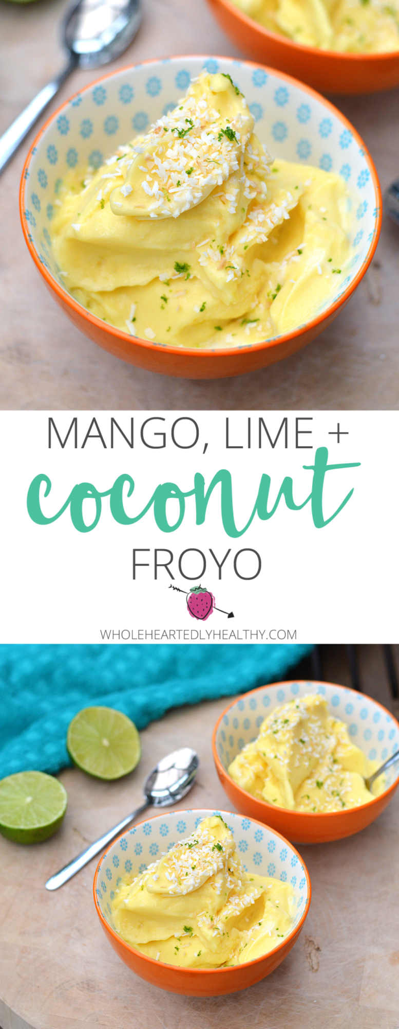 Mango lime and coconut froyo