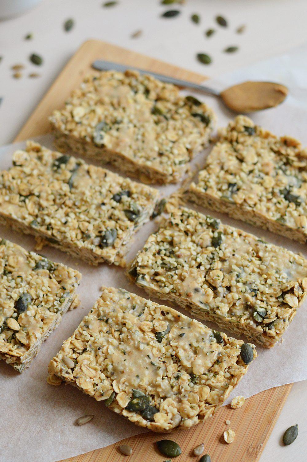 Peanut protein breakfast bars 2
