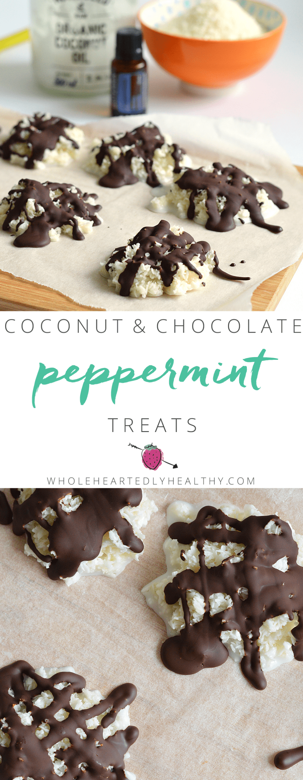 Coconut and chocolate peppermint treats: healthy peppermints
