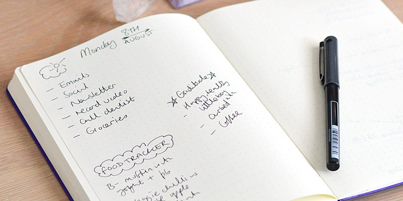 How to use a bullet journal for health and wellbeing